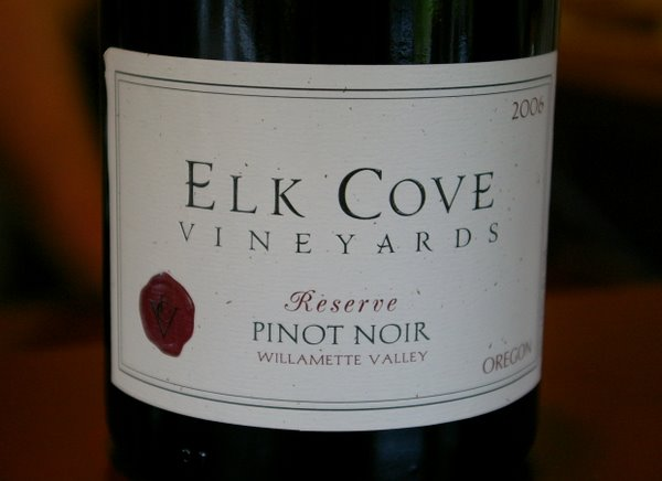 Elk Cove Pinot Noir Ros 2007 Willamette Valley Made Like A White Wine With Some Red Blended Back In To Give The Colour Appealing Sweet Cherry And