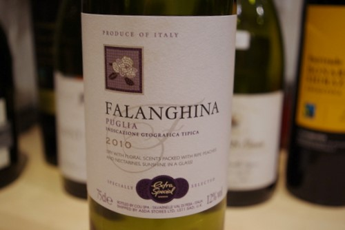asda extra special falanghina 2010 puglia